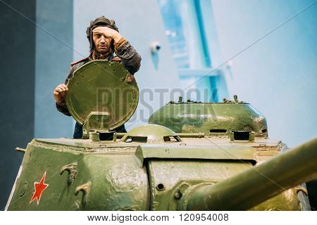 Soviet russian heavy tank IS-2 In The Belarusian Museum Of The G