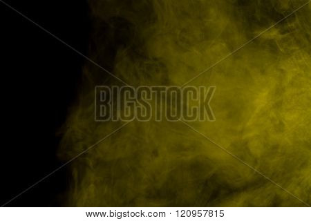 Abstract Yellow Smoke Hookah.