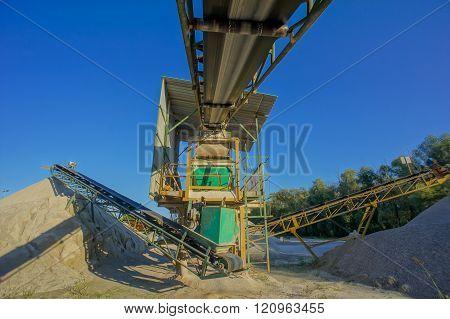 Industrial Gravel Quarry