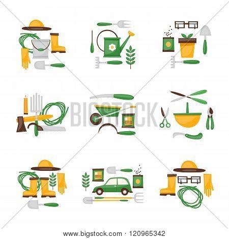 Gardener, garden tools, planting, plants, flowers, lawn, park, garden.