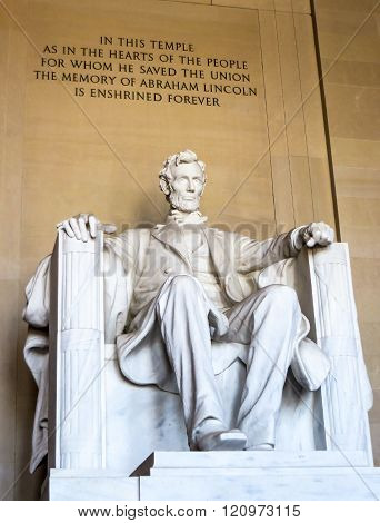 Lincoln Memorial In Washington D.C.