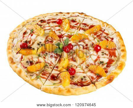 Isolated Dessert Food The Sweet Pizza