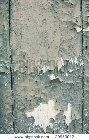 Grunge worn rough background texture with tons of character green paint chip