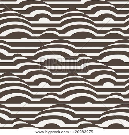 Vector seamless pattern of monohrome stripes