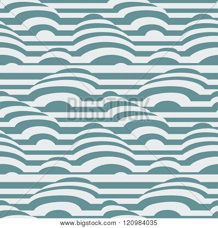Vector seamless pattern of colorful stripes