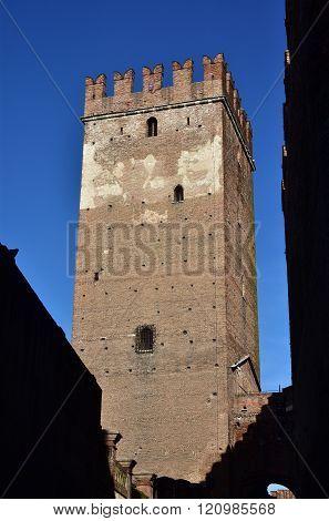 Medieval Castelvecchio Keep In Verona