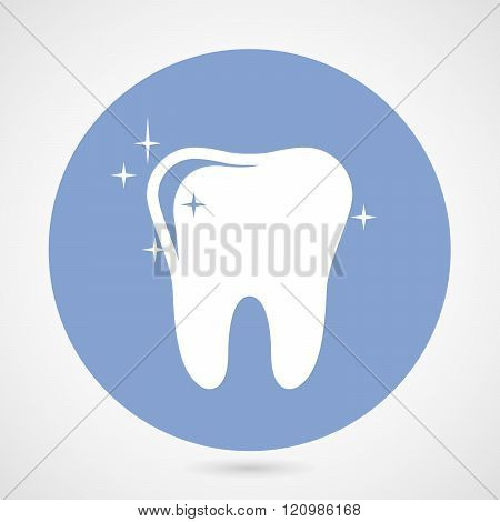 Sparkling Tooth Icon - Dentistry Symbol