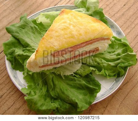 Western Food Bread And Lettuce