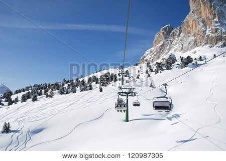 Ski lift. South Tyrol