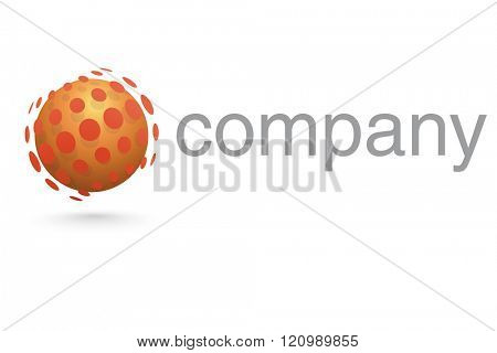 Sphere surrounded by dots company logo template