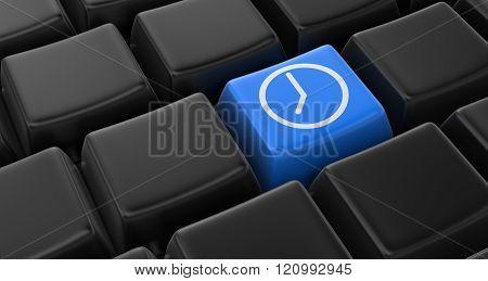 Clock key concept
