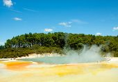 stock photo of arsenic  - Thermal park featuring the  