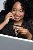 stock photo of internet shop  - Credit Card Businesswoman - JPG