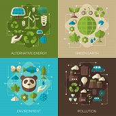 Постер, плакат: Environmental Protection Ecology Concept Banners