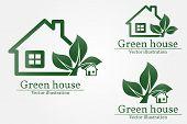 Green House Logo. Eco House. Green House Vector. Green House Art. Green House Graphic. Green House J poster