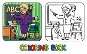 Постер, плакат: Funny teacher Coloring book Profession series