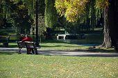 Old Couple, Public Garden, Boston Common, Boston, Ma