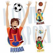 Постер, плакат: Happy Sports Fans