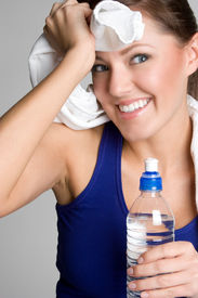 pic of workout-women  - Fitness Woman Drinking Water - JPG