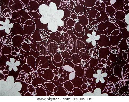 Pink Floral Brown