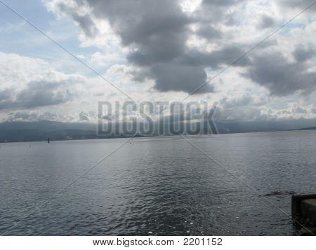 Escena del océano cerca de Ajaccio, Córcega
