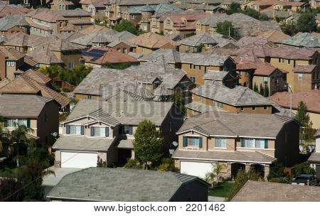 Elevated View Of  Neighborhood.