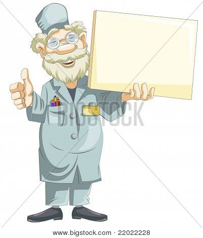 Doutor dos desenhos animados.