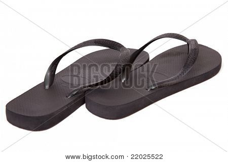 Flip-flops isolated on a white background.
