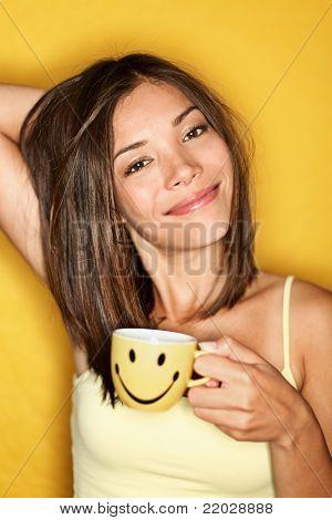 Morning Coffee Woman Tired