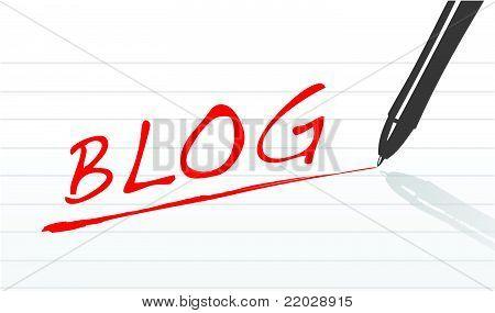 Blog concept illustration design