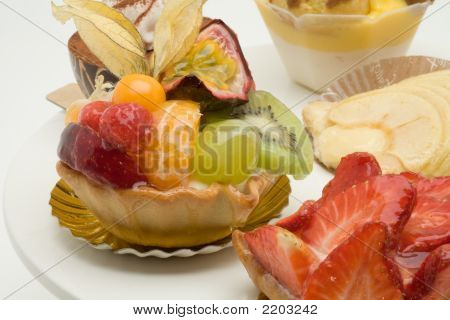 Fruit Cakes On A Pie Plate