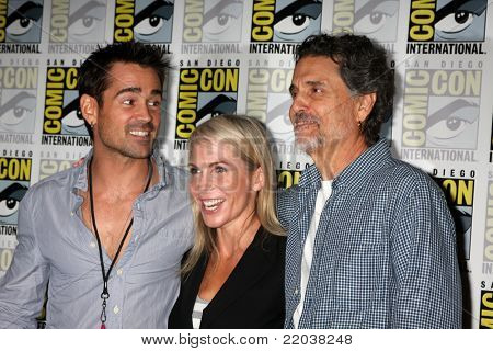 SAN DIEGO - JUL 22:  Farrell, Marti Noxon, Chris Sarandon at the 2011 Comic-Con Convention - Day 2 at San Diego Convention Center on July 22, 2010 in San DIego, CA.