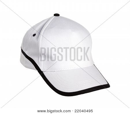 Baseball Cap White/Black