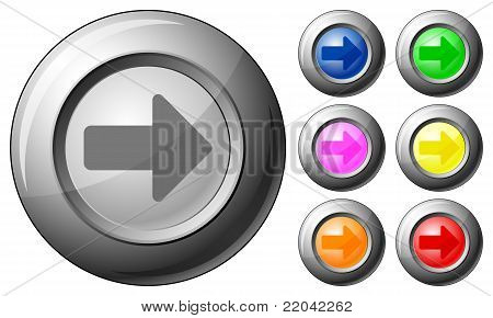 Esfera botão seta direita
