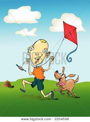ein kite.eps fliegen
