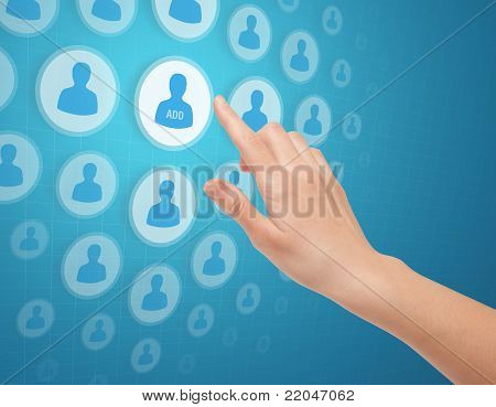 Hands Touch Social Media Icon