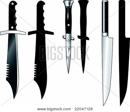 black handled knives