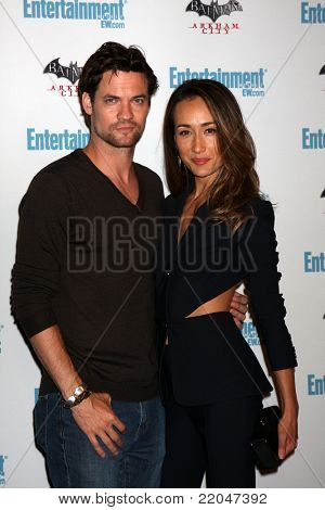 LOS ANGELES - JUL 23:  Shane West, Maggie Q arriving at the EW Comic-con Party 2011 at EW Comic-con Party 2011 on July 23, 2011 in Los Angeles, CA