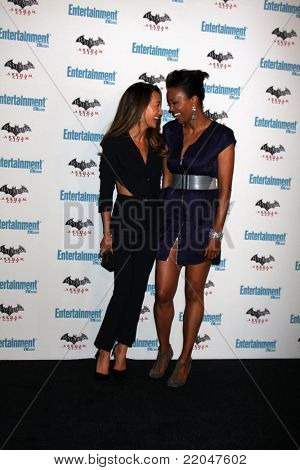 LOS ANGELES - JUL 23:  Maggie Q, Aisha Tyler arriving at the EW Comic-con Party 2011 at EW Comic-con Party 2011 on July 23, 2011 in Los Angeles, CA
