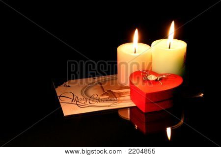 Candle With Heart Gift Box