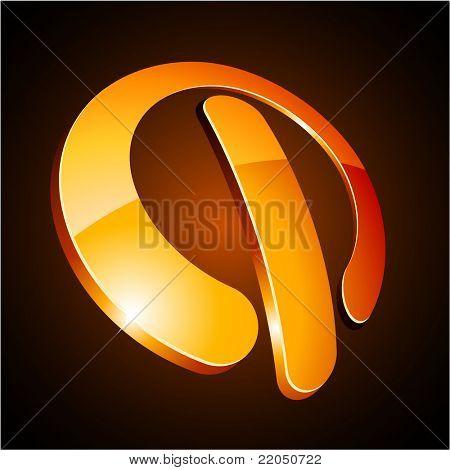 Vector EPS8  illustration of switch shiny symbol.