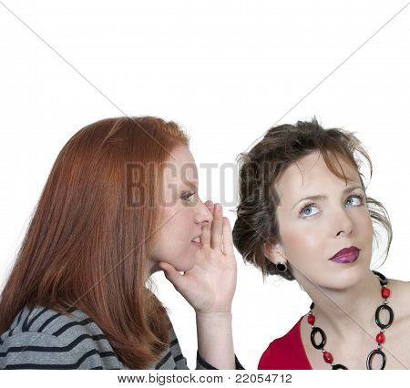 Woman Whispering A Secret