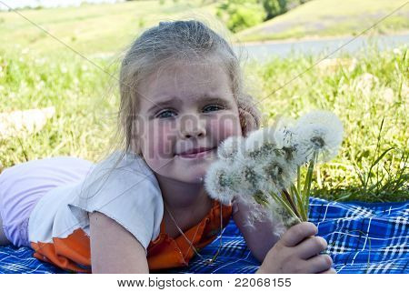 The Girl With Dandelions