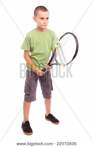 Child Playing Tennis