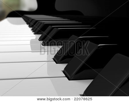 Piano keys, music
