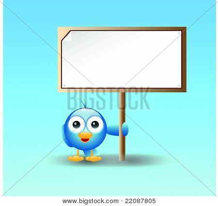 Blue bird blank sign