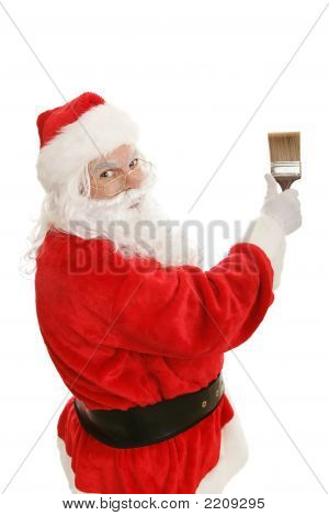 Santa With Paintbrush