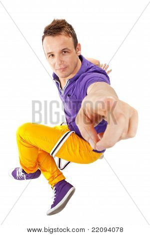 Male Dancer Pointing At You
