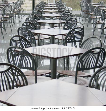 Café In Shopping Center.