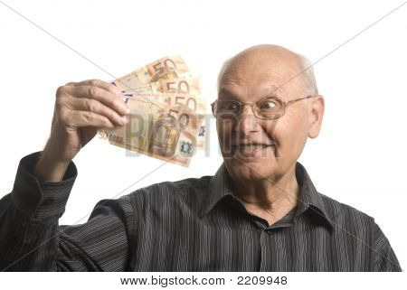 Senior Man With Money